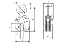 Camlok LJ non marking plate lifting clamp