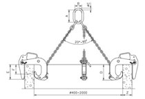 Camlok BTG concrete pipe lifting clamp
