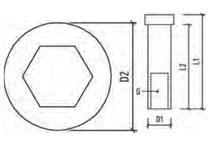 Stainless steel treaded socket for balustrading