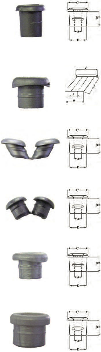 Plastic grommets for balustrading