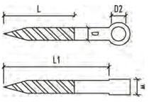 Stainless steel screw eye for balustrading