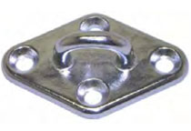 Stainless steel pad eye for balustrading or yatching