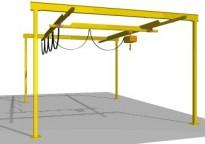 Free standing track crane